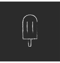 Popsicle icon drawn in chalk vector image