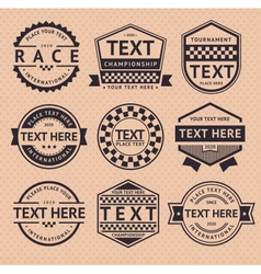 Racing insignia vintage style vector