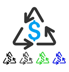 Recycling cost flat icon vector