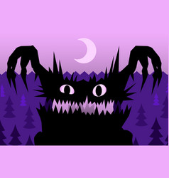 Scare night monster vector