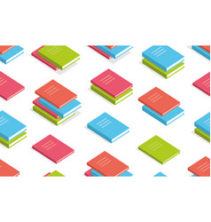 seamless pattern with books isometric vector image
