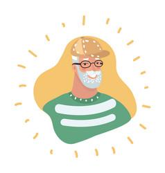 Senior man profile icon male portrait vector