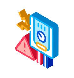 Short circuit isometric icon vector