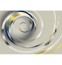 Silver spiral stripes on light background vector image