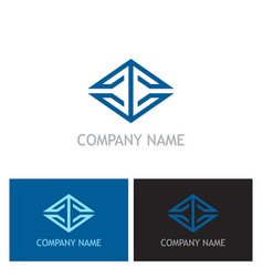 square line geometry business logo vector image