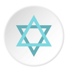 star of david icon circle vector image