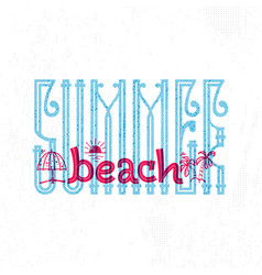 Summer beach retro sign badge banner template vector
