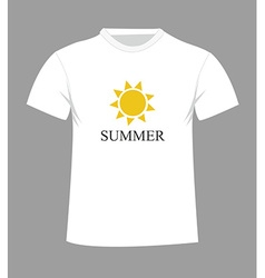 T-shirt design with sun vector