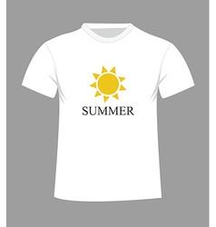 T-shirt design with sun vector