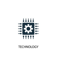 technology icon simple element vector image