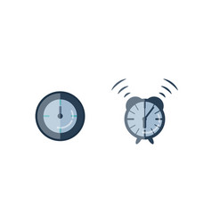 time management planning and control clock timer vector image