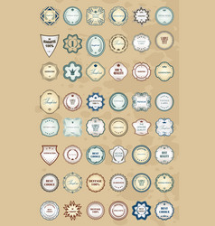 vintage labels retro style set design elements vector image