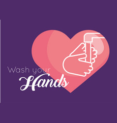 Wash hands message for covid19 vector
