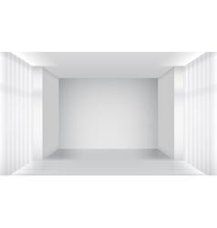 White empty room interior vector image