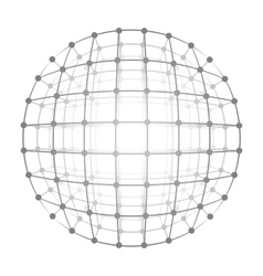 Wireframe mesh a gray circle vector