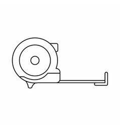 Construction roulette icon outline style vector image