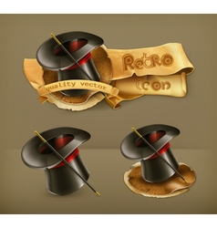 Magic cylinder hat icon vector image