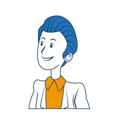 Portrait male business man cartoon work people vector