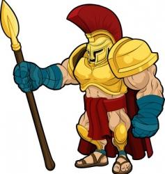 Spartan gladiator vector image vector image