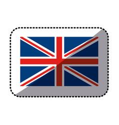 Sticker flag united kingdom classic british icon vector