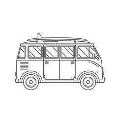 Travel Omnibus Thin Line Icon vector image vector image