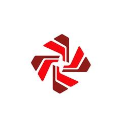 circular shape spin abstract technology logo vector image vector image