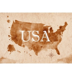 Map United States retro vector image vector image