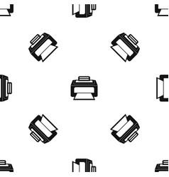 modern laser printer pattern seamless black vector image vector image