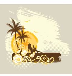 palms banner vector image vector image