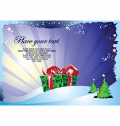 Christmas and gift vector image vector image
