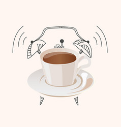Coffee wake up concept vector