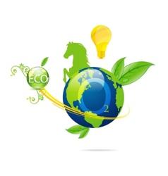 cretive nature green eco earth symbol vector image