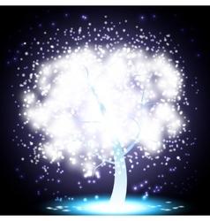 Magical Christmas Tree vector image vector image
