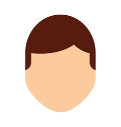 man male avatar line icon vector image vector image
