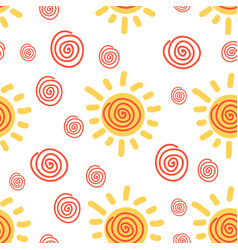 sunny pattern vector image