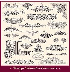 Elegant Victorian Letterhead flourishes vector image vector image