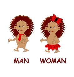Man and woman toilet signs vector image vector image