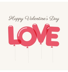 valentines day love balloons vector image vector image
