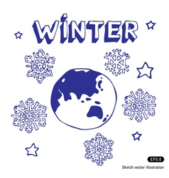 Winter Earth vector image vector image