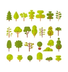 A set isolated trees and shrubs vector
