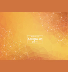 Abstract polygonal light orange background with vector