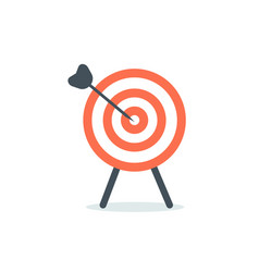 Abstract target icon flat design vector