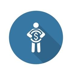 Acquisition Values Icon Business Concept Flat vector