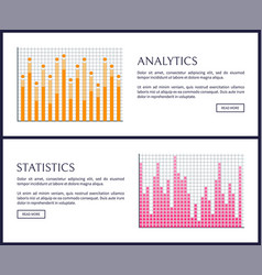 analytics and statistics graphics on web pages vector image