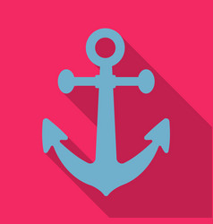 anchor icon in flat style isolated on white vector image