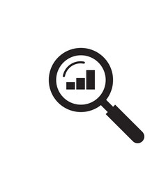 audit analysis research icon magnifier vector image