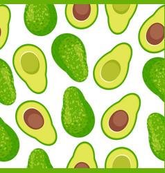 Avocado seamless pattern background vector