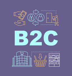 B2c word concepts banner vector