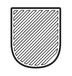 badge in monochrome contour and striped vector image
