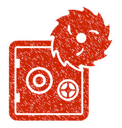 Bank safe hacking theft grunge icon vector